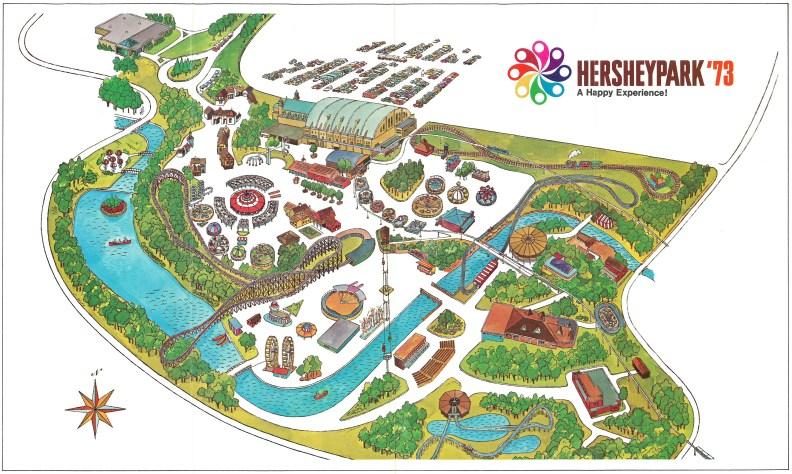 1973 Hersheypark map