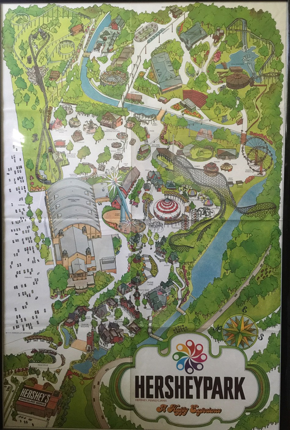 1974 Hersheypark Souvenir map