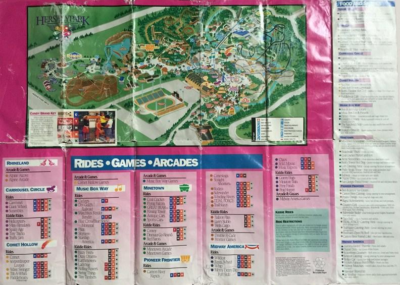 1999 Hersheypark map