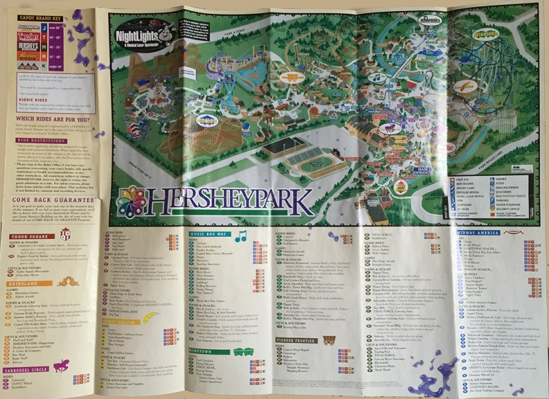 2002 Hersheypark map