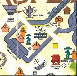 1986 Hersheypark map
