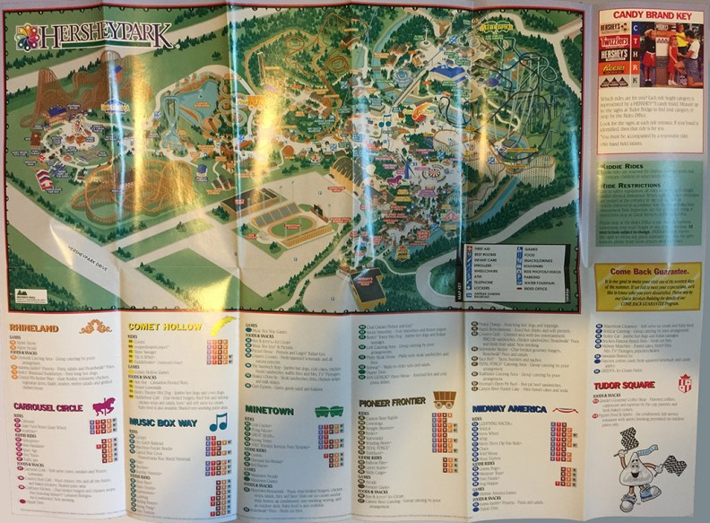 2000 Hersheypark map