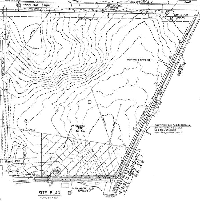Canyon River Rapids site plan, 1986.
