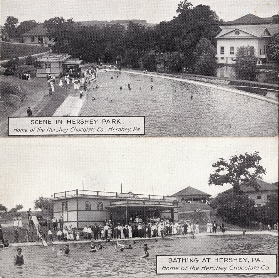 1912 circa Hershey Park Pool Hollow