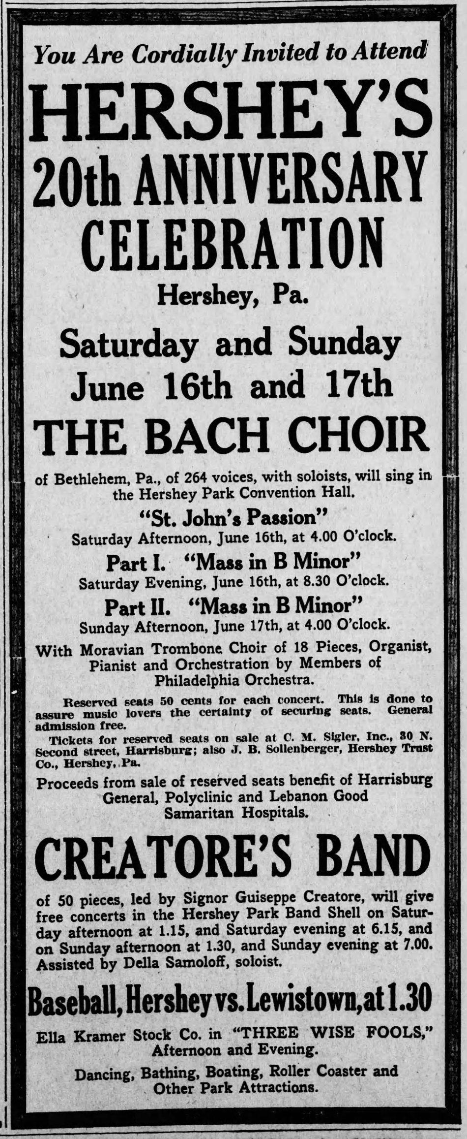 1923-06-12 Harrisburg [PA] Telegraph (p14)