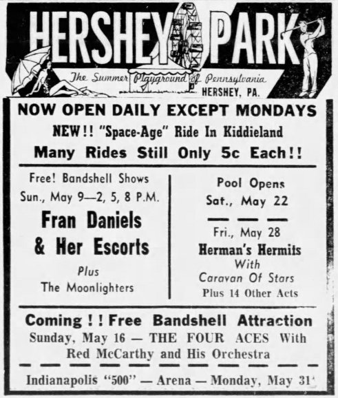 Hersheypark advert promoting the new Space Age ride.