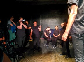 An interactive performance on forced evictions of Roma, made by Roma women from Rahova quarter.
