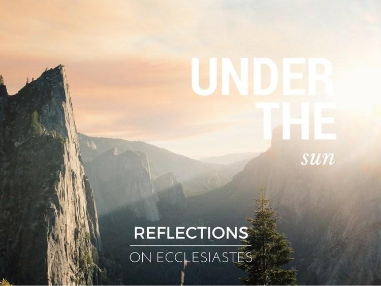 Reflections on Ecclesiastes: Chapter 1 » Amusing Ames