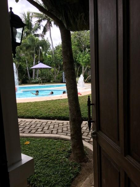 SAHMotsari_Gate to the pool at Dewi Sri Farm