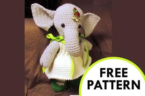 Cuddly crochet elephant. amigurumi elephant grey and yellow. | Etsy | 333x500