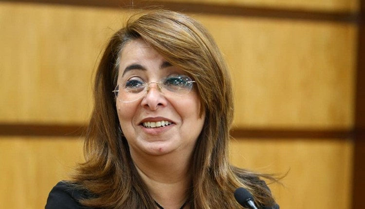 وزيرة التضامن الاجتماعي غادة والي ، ورئيس مجلس إدارة بنك ناصر الاجتماعي