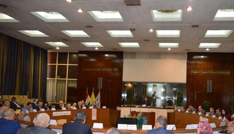 جانب الجمعية العامة غير العادية للشركة القابضة للصناعات الكيماوية ، برئاسة خالد بدوى وزير قطاع الأعمال العام،