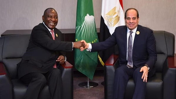 الرئيس السيسي مع رئيس جنوب افريقيا