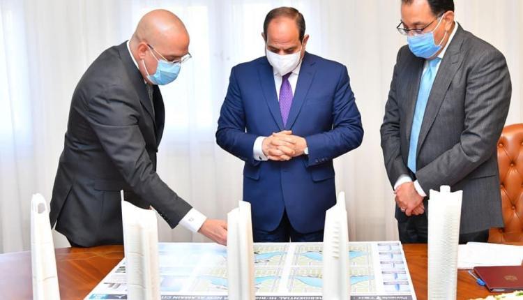 اجتماع الرئيس السيسي مع رئيس الوزراء ووزير الاسكان