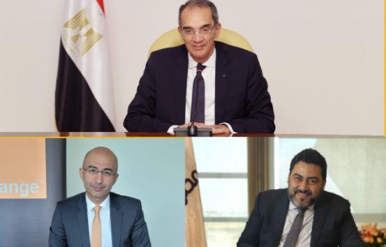 توقيع المصرية للاتصالات وأورنج مصر اتفاقيات تجارية