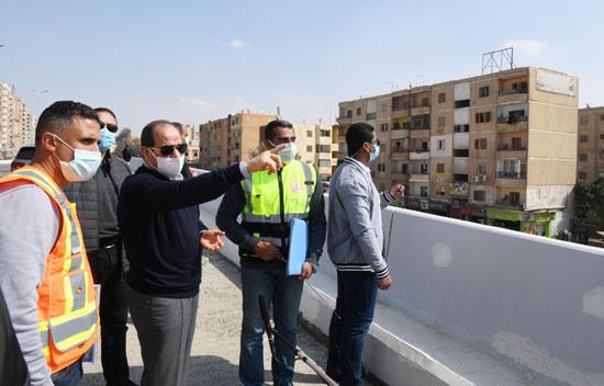 الرئيس يتفقد أعمال تطوير بشرق القاهرة