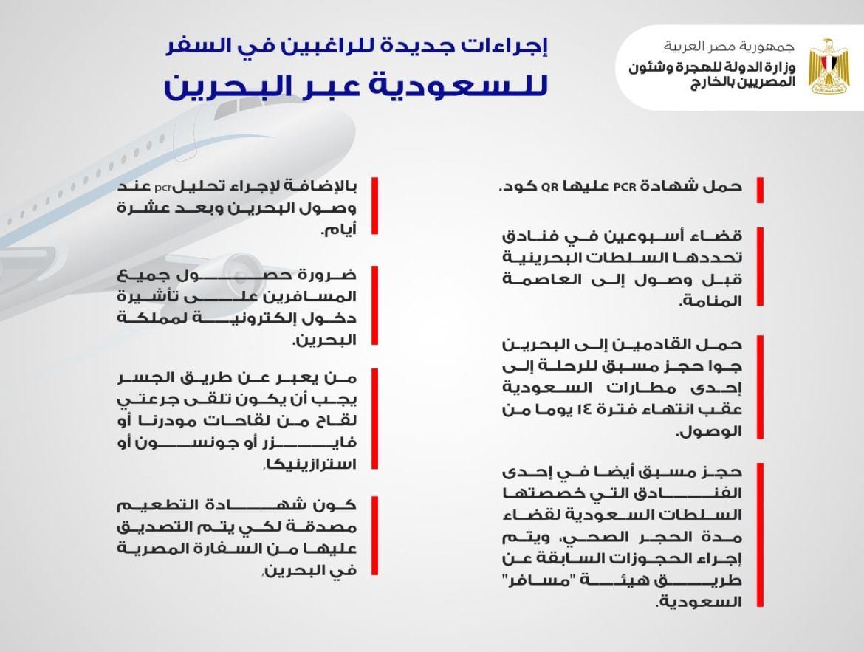 اجراءات السفر الى السعودية عبر البحرين