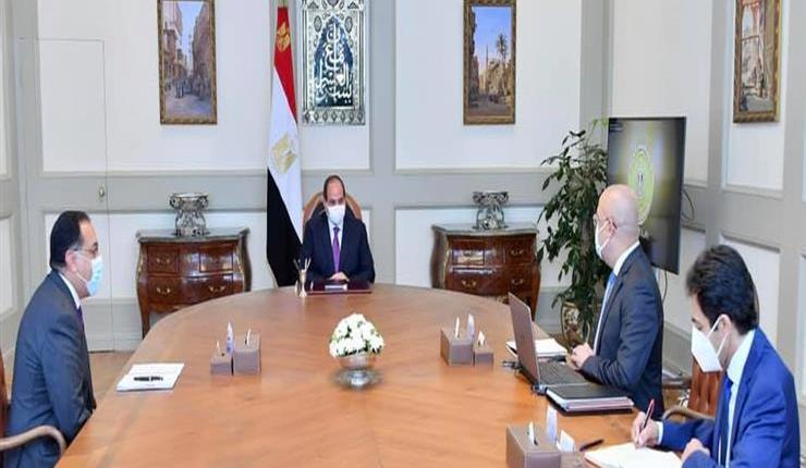 جانب من لقاء الرئيس السيسي