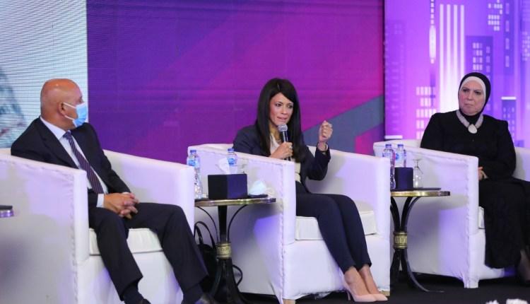 وزيرة التعاون الدولي خلال ملتقى بناة مصر