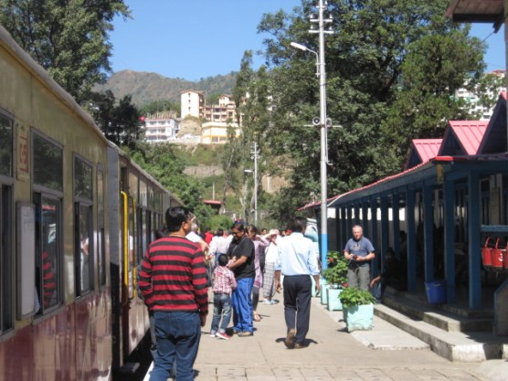Heritage train station on Simla-Kalka Heritage rail