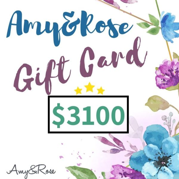 $3100 Gift Card AmyandRose