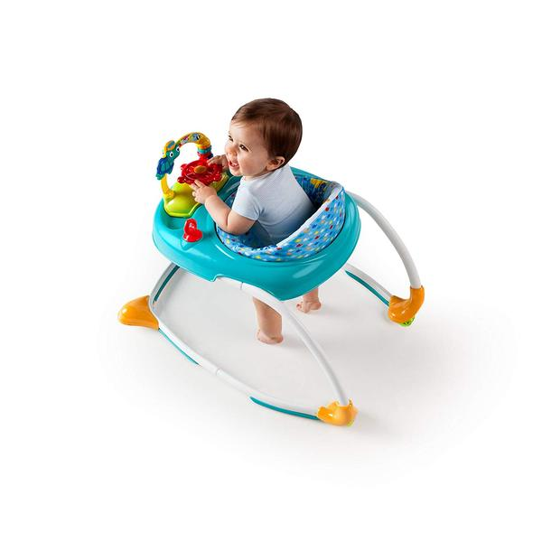 Baby playing on walker