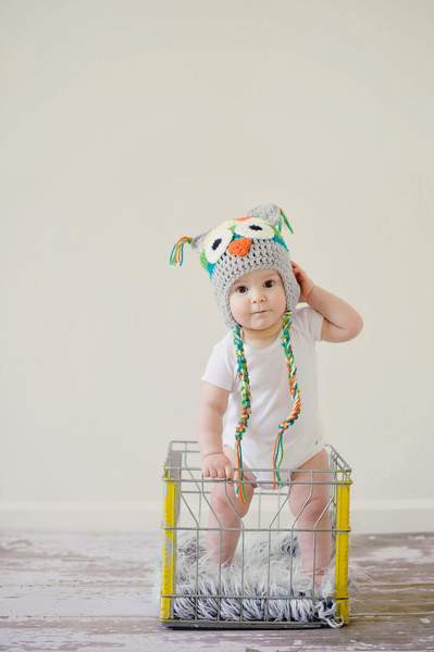 Toddler standing with support