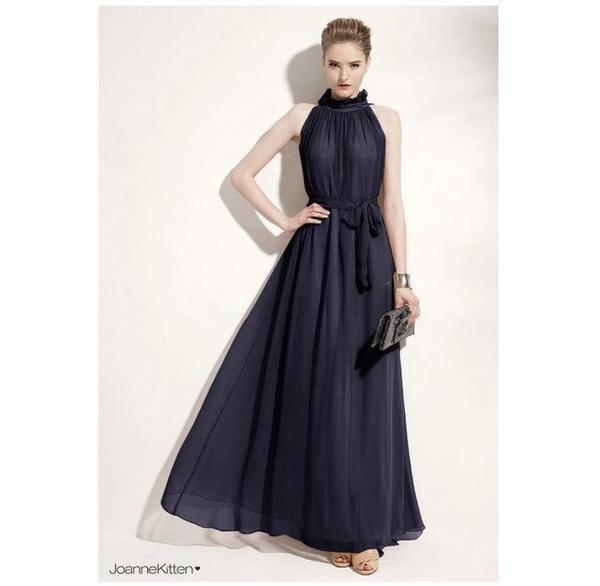 Faith Long Chiffon Bohemian Maternity Dress - Black