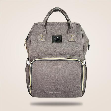 Original Land Diaper Backpack Bag - Grey - AmyandRose