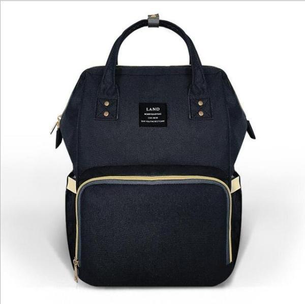 Land Diaper Backpack Bag - Black - AmyandRose