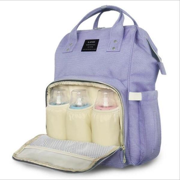 Land Diaper Backpack Bag - Light Purple - AmyandRose