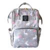 Lequeen Diaper Bag Backpack Gray Unicorn