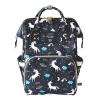 Lequeen Diaper Bag Backpack Black Unicorn