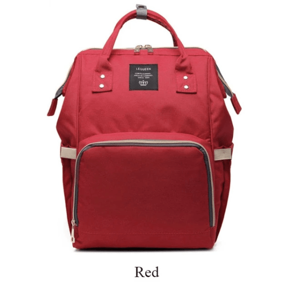 Lequeen Diaper Bag Backpack Red
