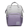 Lequeen Diaper Bag Backpack Grey Purple