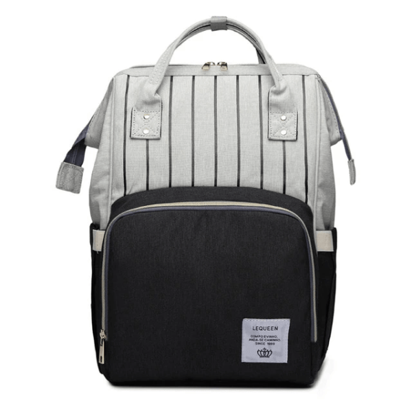 Lequeen Diaper Bag Backpack Grey Black