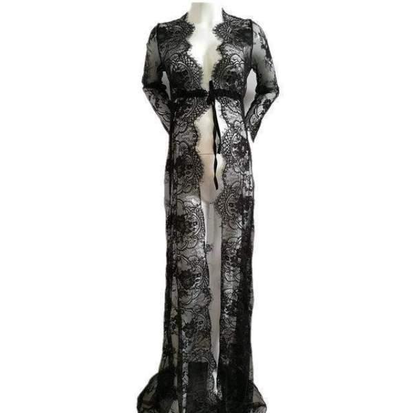 Angel Maternity Dress Gown Black