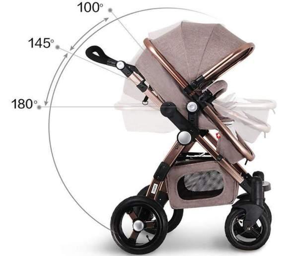 Baby Stroller 3 in 1 Design