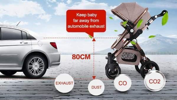 Baby Stroller 3 in 1 Safe