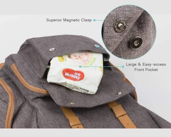 Diaper Bag for Dads Nappy Pocket