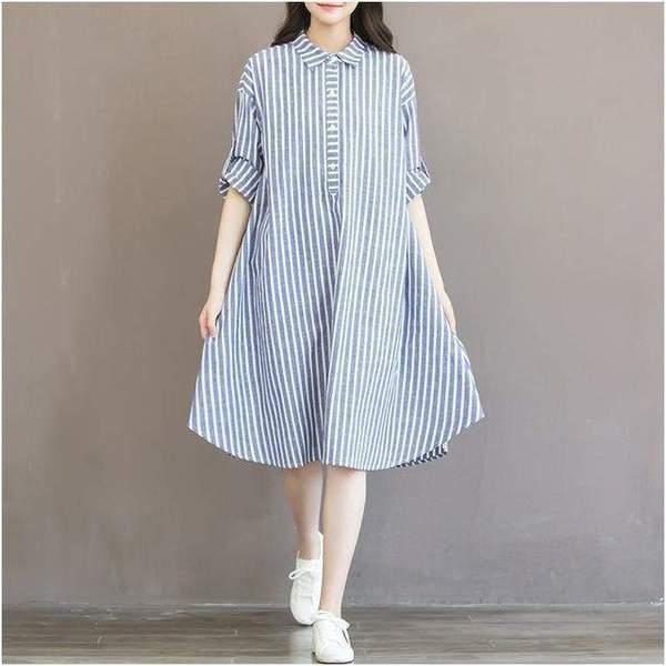 stripes pregnancy dress