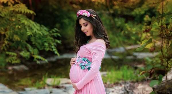 Pink Photoshoot Pregnancy Dress