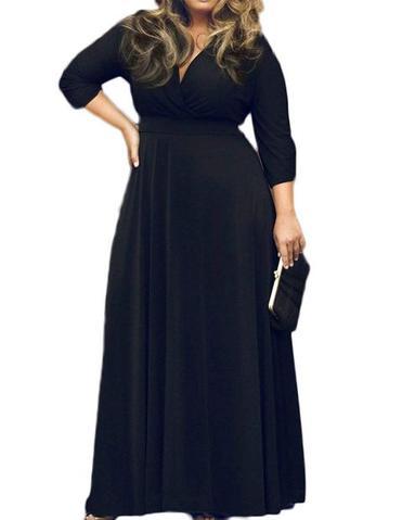 Plus size anticipating woman dress