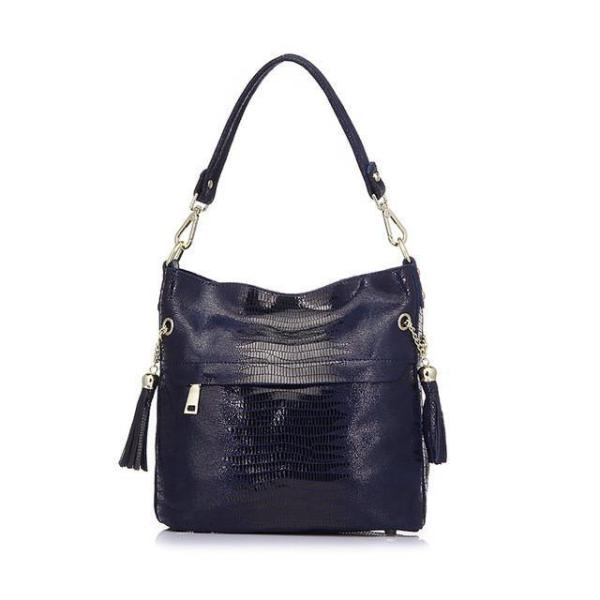 Mason Crocodile Bag Handbag Blue