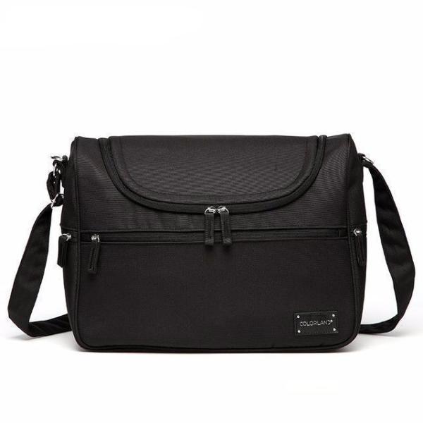 Messenger Diaper Bag Black