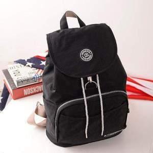 Preppy Style Women's Waterproof Backpack Black