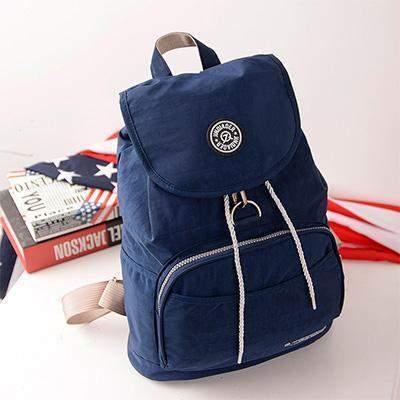 Preppy Style Women's Waterproof Backpack Deep Blue