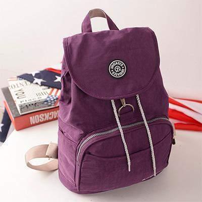 Preppy Style Women's Waterproof Backpack Purple