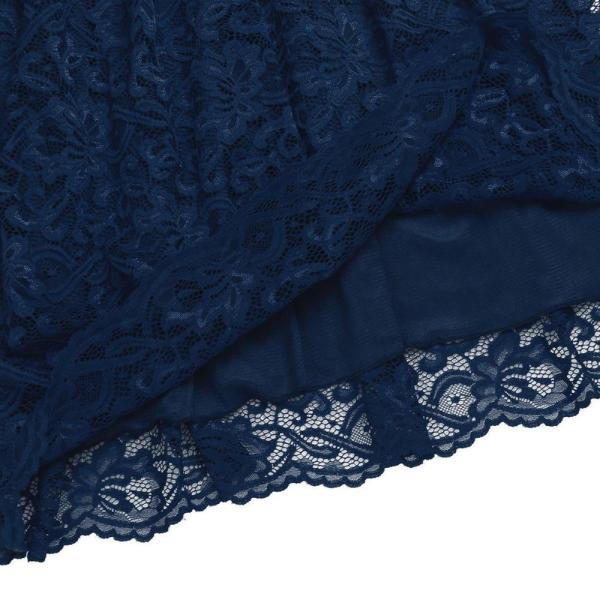 Floral Cocktail Party Maternity Dress Navy Blue Fabric