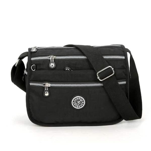 Lita Multi Compartment Handbag Purse Black